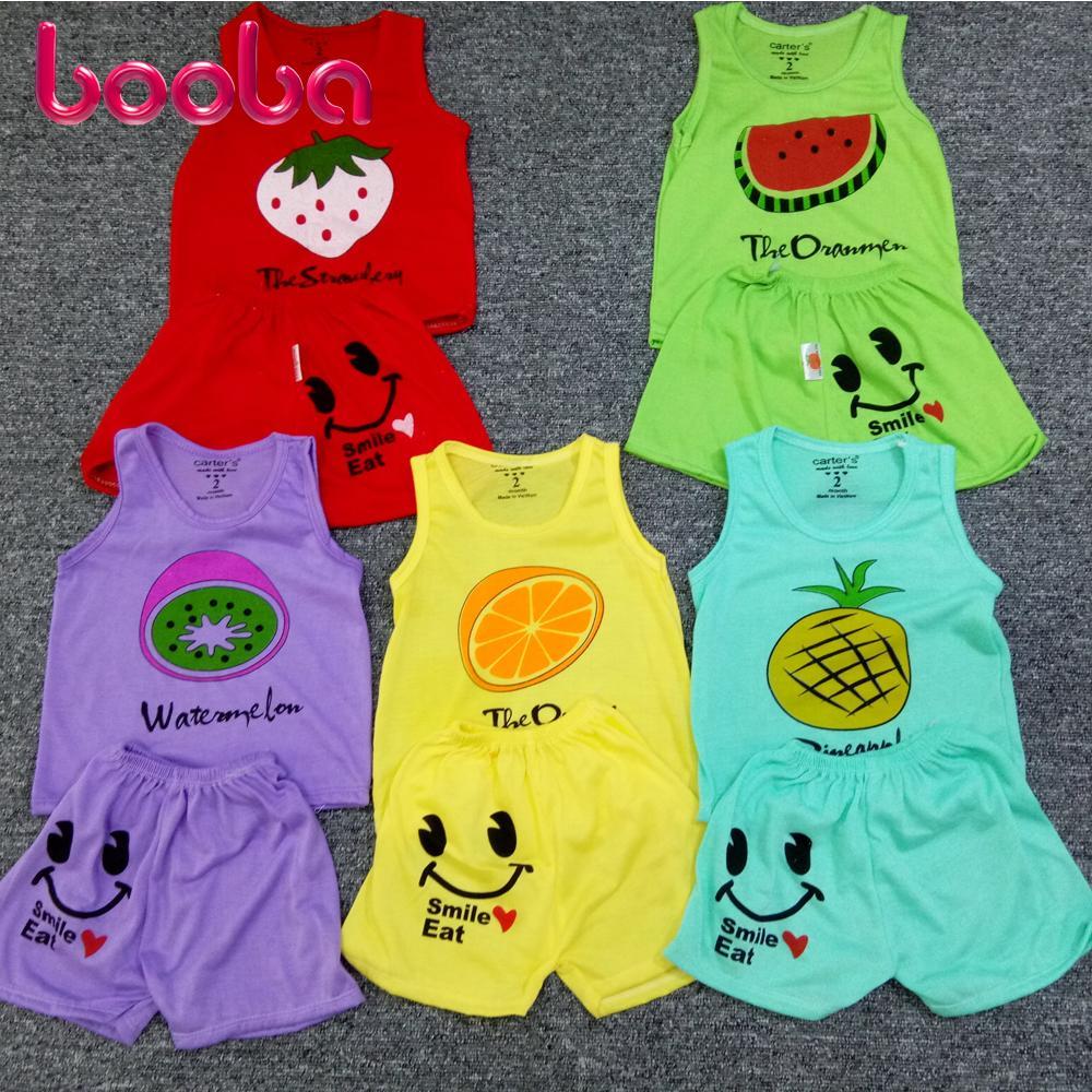 Combo 5 bộ áo ba lỗ quần đùi cho bé trai bé gái (ảnh thật)_BD08