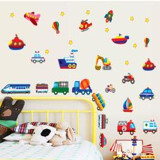 Decal dán tường phương tiện giao thông cho bé 2712