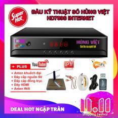 Đầu kỹ thuật số Hùng Việt HD789S-INTERNET xem Youtube và IPTV + Anten khuếch đại + Dây cấp nguồn Anten + 15m Dây cáp anten + Dây HDMI + Anten Wifi