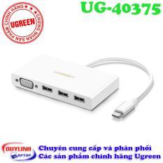 Cáp chuyển USB Type C to VGA, Hub USB 3.0 cao cấp Ugreen 40375