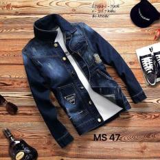 Áo khoác jean nam cao cấp ( xanh đen) phong cách trẻ trung LuLy Fashion