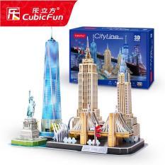 Đồ chơi xếp hình 3D cỡ lớn – Mô hình thành phố New York thu nhỏ