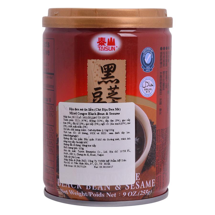 Chè Đậu Đen Mè Ăn Liền TaiSun Mixed Congee Black Bean & Sesame (255g / Hộp)