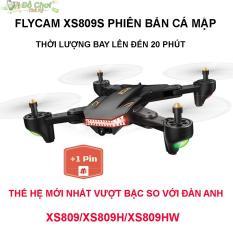 ( GỒM 2 PIN ) Flycam VISUO XS809S Battle Shark – Bản Nâng Cấp Mới Nhất, Camera FPV 2.0MP, Truyền Trực Tiếp Qua Điện Thoại
