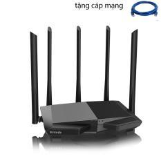 Thiết bị phát Wifi chuẩn AC 1200Mbps Tenda AC7 (Đen) + 1 CÁP MẠNG