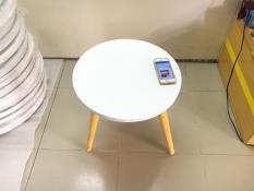 BSF – Bàn tròn trắng mini nhỏ sofa phòng khách 40×45, bàn coffee, bàn trà