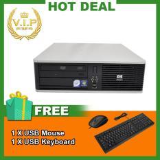 Máy tính để bàn HP DC 5800 SFF (CPU Core 2 Duo E7500, Ram 2GB, HDD 160GB) Chất Lượng Tốt + Bộ Quà Tặng – Hàng Nhập Khẩu