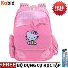 Balo học sinh chống gù lưng PinkCatcho bé gáiTừ lớp 3 đến lớp 6 (Pink)