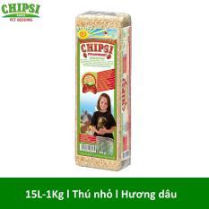 Lót chuồng cho thú nhỏ hương dâu Chipsi Strawberry 15L