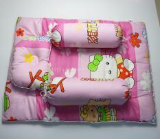 Bộ nệm gối sơ sinh kim home có in hình(Cho em bé từ 0-2 tuổi), ruột nệm là gòn tấm cao cấp, vỏ nệm/gối cotton, hút ẩm, kiểu dáng ngộ nghĩnh