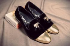 Giày Lười Nam Chuông Mũi Vàng Xả Lỗ 99k