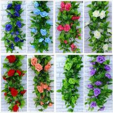 Combo 5 dây hoa giả – Hoa lụa – Hoa hồng leo trang trí nội thất dài 2.4m nhiều màu sắc đẹp HL-1205