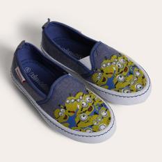 Giày Sneaker Bé gái thời trang D&A BG1604 bò xanh