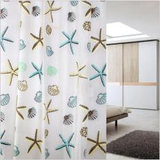 Rèm cửa nhà tắm PEVA Sao Biển 180x200cm