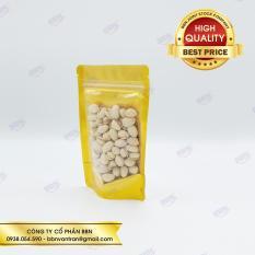 Túi zip đứng mặt trong mặt vàng 12x19cm đựng 100g (đvt kg)