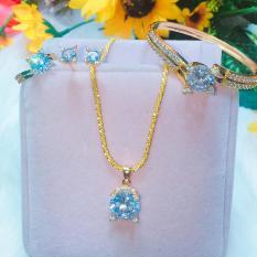 Bộ Trang Sức Nữ xi Vàng Gadoshop VB5090802 – đeo đi tiệc đi cưới cực sang chảnh và quý phái