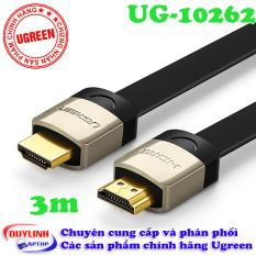 Cáp HDMI dẹt Dài 3M hỗ trợ 3D, 4K UGREEN HD123 10262(Đen)