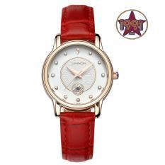Đồng hồ nữ SANDA Japan Movt dây da cao cấp SA198 + Tặng kèm vòng tay