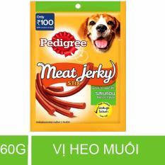 Que ăn thưởng cho chó vị Heo muối que 60g – Pedigree Meat Jerky Smoky Stix Bacon Flavor – PD 004