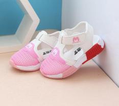 Giày be gái, giày đi học bé gái thời trang thoáng chân RS144 size 22-26 (Trắng hồng)