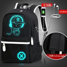 Balo Nam Phát Sáng Có Sạc USB, Chống Trộm, Chống Nước – Tặng Cáp USB, Khóa Số – Hàng Nhập