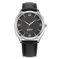 Đồng hồ thời trang nam dây da cao cấp YAZOLE Q12