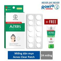 Miếng dán mụn Acnes Clear Patch (24 miếng) + Tặng Kem rửa mặt Acnes Creamy Wash 25g