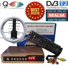 Đầu thu kỹ thuật số SET TOP BOX DVB-T2/HP-1115 kèm Bộ Anten Thông Minh, Dây Cáp và Jack Nối