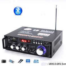 Amply hát karaoke gia đình , Amply mini gia re – Amly bluetooth công suất lớn, tích hợp 2 cổng mic, kiểu dáng sang trọng, hiện đại M112 – Bh uy tín 1 đổi 1 bởi Smart Buy
