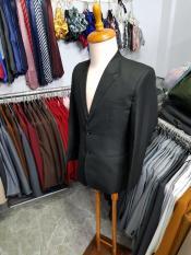 Bộ vest nam màu đen kiểu 2 nút trung niên chất liệu vải dày mịn (áo+quần+cà vạt+kẹp)