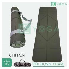 Thảm Tập Yoga TPE Định Tuyến 6mm 2 lớp + kèm túi