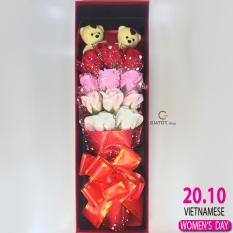 Hoa hồng sáp thơm 11 bông – Qùa tặng ý nghĩa trong tình yêu