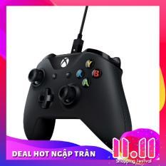 tay cầm chơi game xbox 360 cho pc(đen)