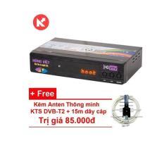 Đầu thu kỹ thuật số DVB-T2 HÙNG VIỆT TS-123 + Angten + 10m dây cáp
