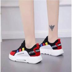 giày 2 màu đen đỏ