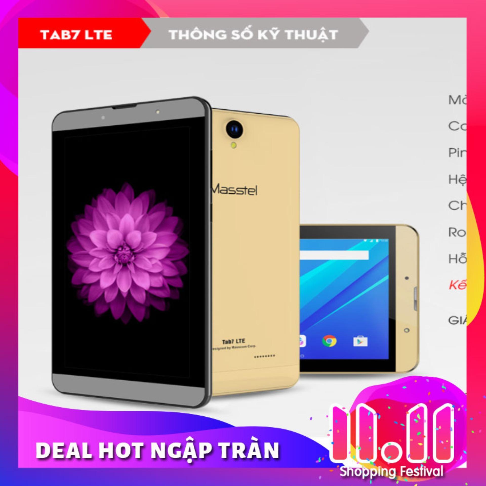 Máy Tính Bảng , Masstel Tab 7 LTE ( 4G ) - 7 Inch . 2 Sim nghe gọi -...