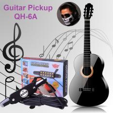 Acoustic Guitar Pickup QH-6A (Tặng Khăn che mặt hình đầu lâu cực COOL) – Bộ thu âm Đàn Guitar