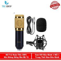 Mic Thu Âm BM800 Giá rẻ + Chân Mic (Đen) + Bông Lọc Âm BBC01