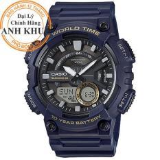 Đồng hồ nam dây nhựa Casio Anh Khuê AEQ-110W-2AVDF
