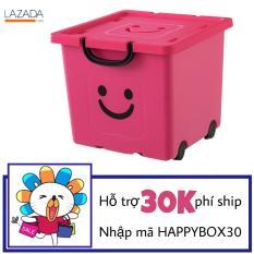 Thùng nhựa cao cấp Hàn Quốc Happy Box YW-02 (Hồng)