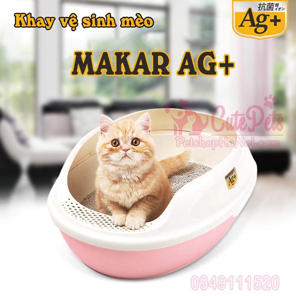 [Tặng xẻng] Khay vệ sinh mèo Makar AG+ - CutePets