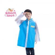 Áo mưa hình Po ke mon màu xanh dành cho trẻ em , học sinh và các bé có nhiều size (S) (Thái Lan) – 240PVCPOS199