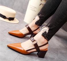 Sandal mũi nhon 5cm style Retro cổ điển