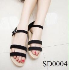 Giày sandal gót 1p đen đen 38
