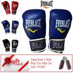 Găng Tay Tập Đấm Boxing Cao Cấp – TiGi Mall – Tặng Kèm 1 Bóp Mút