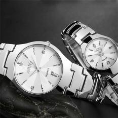 Đồng hồ cặp Nary mặt màu trắng