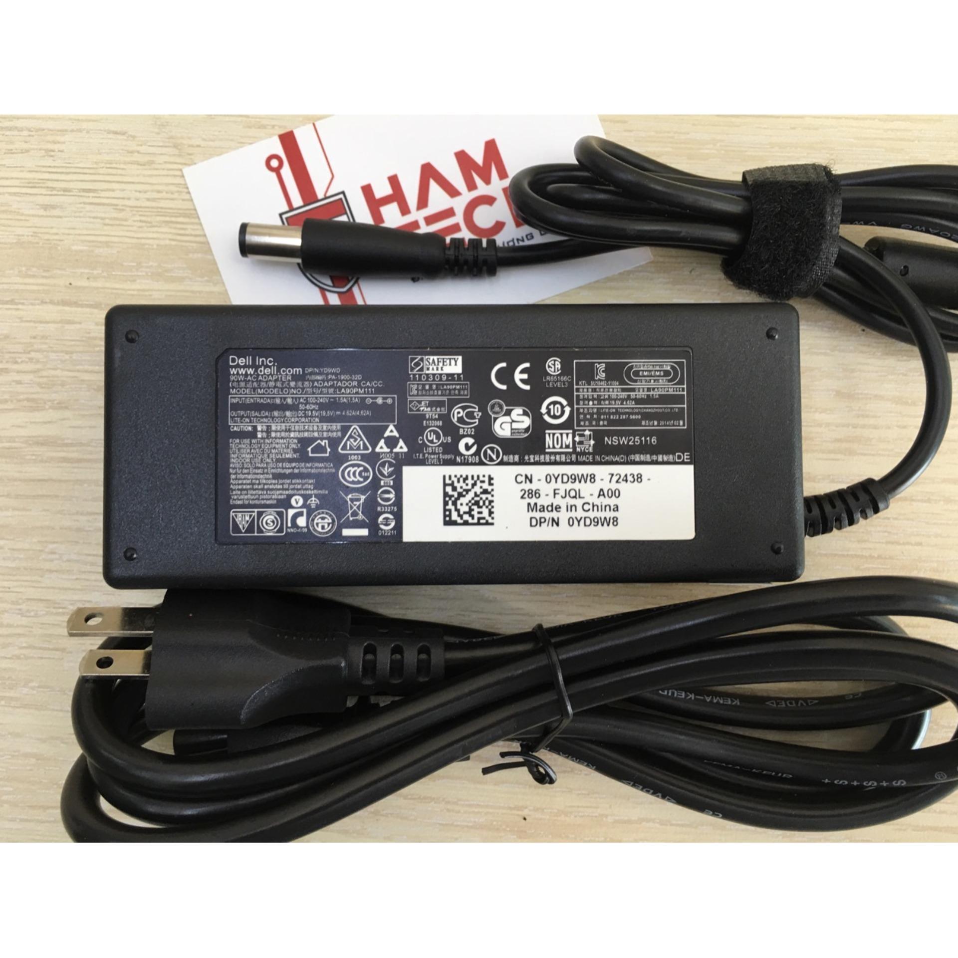 Sạc laptop dell 19.5V-4.62A Đầu Kim Lớn