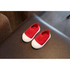 Giày tập đi mẫu mới màu đỏ đáng yêu cho bé