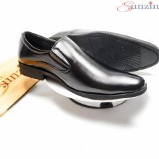 Giày DA THẬT – Kiểu Giày công sở không dây đứng đắn cho nam giới (giày khâu tay model 2018) sunzin g310