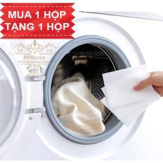 Mua 1 Tặng 1. Giấy giặt hút màu, chống loang màu nhuộm và làm sạch quần áo. Giấy loại lớn 28x11cm